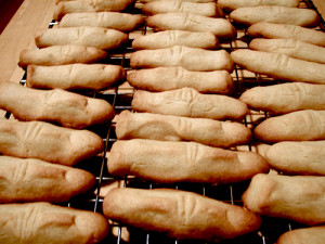 Baked fingers.